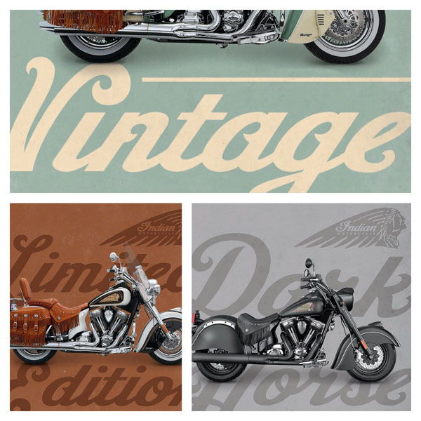 Indian Motorcycles, custom script logofont
